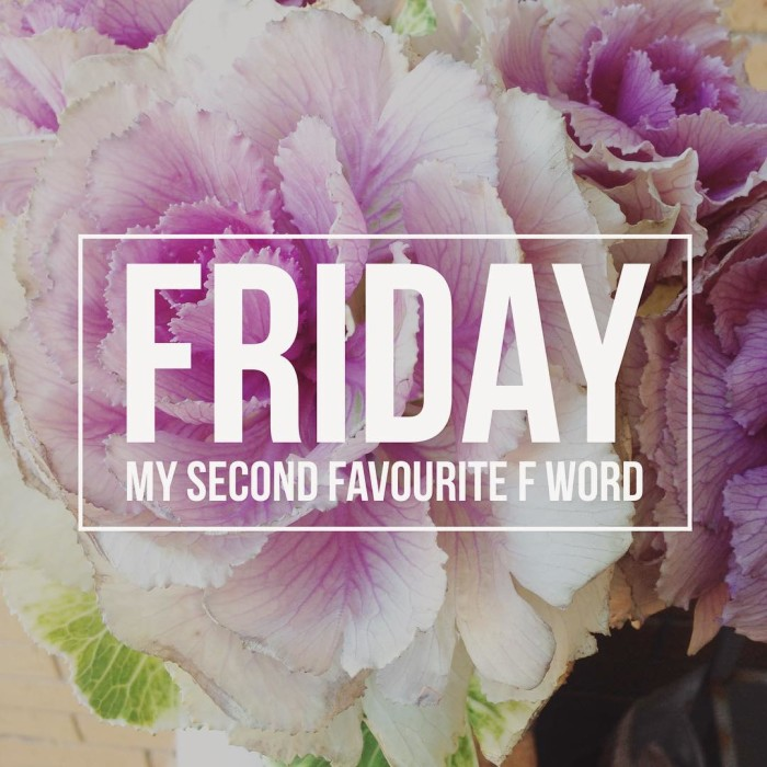 Happy Friday everyone! obviously food is my favourite f word