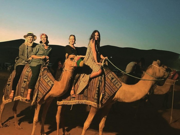 Riding camels in the desert as you do Thanks arabianadventureshellip