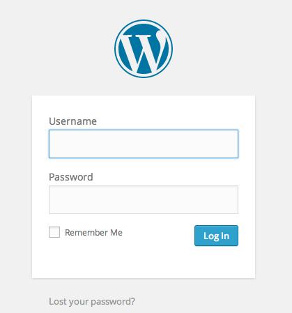 17-WordPress Login