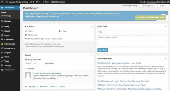18-WordPress Dashboard