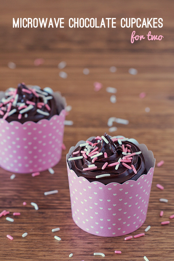 Microwave Chocolate Cupcakes for Two - Love Swah