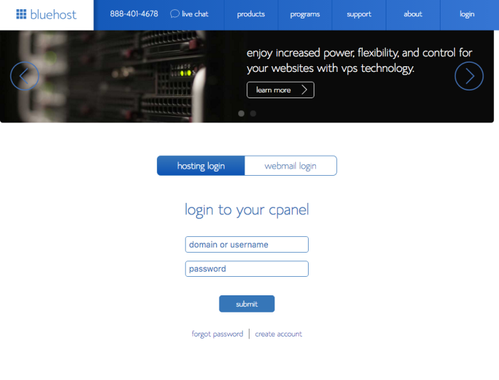 9- Bluehost:cPanel Login