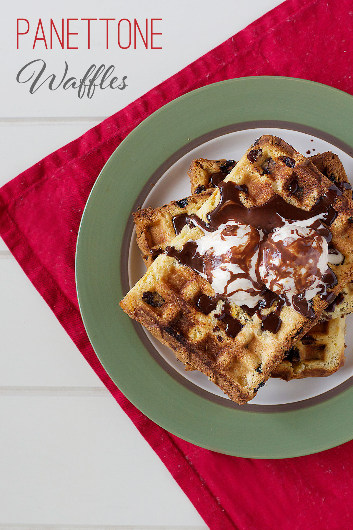 Panettone-wafffles