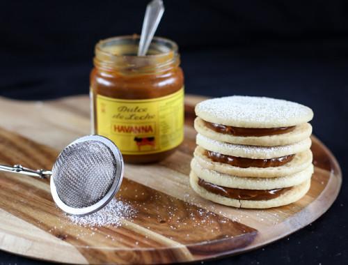 Alfajores AKA Dulce de Leche Cookie Sandwiches