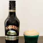 St Patricks Day – Green Velvet Cupcakes with Baileys Cream Cheese Icing