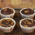 Banana and Nutella Swirl Muffins