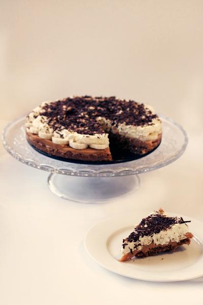 Banoffee Pie with Salted Pretzel Crust