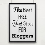 The Best Free Font Sites for Bloggers