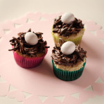 Happy Easter! Chocolate Peanut Butter Birds Nest Cupcakes