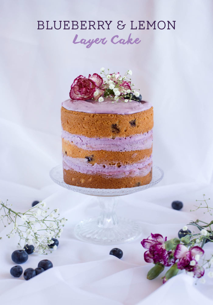 Blueberry and Lemon Layer Cake