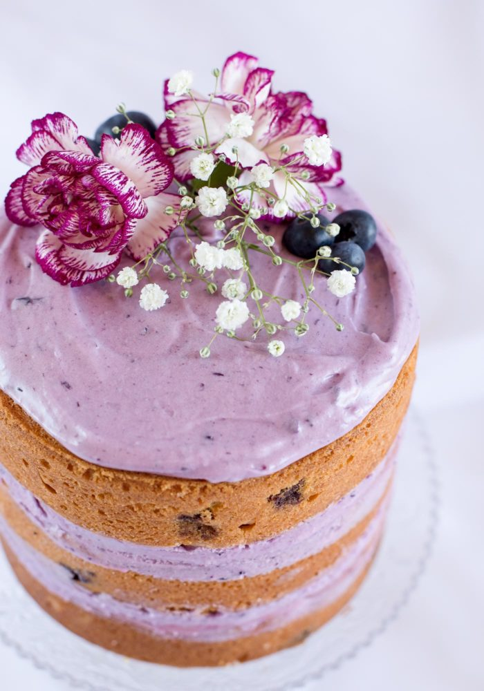 scented with lemon the baked blueberries scattered throughout the cake ...