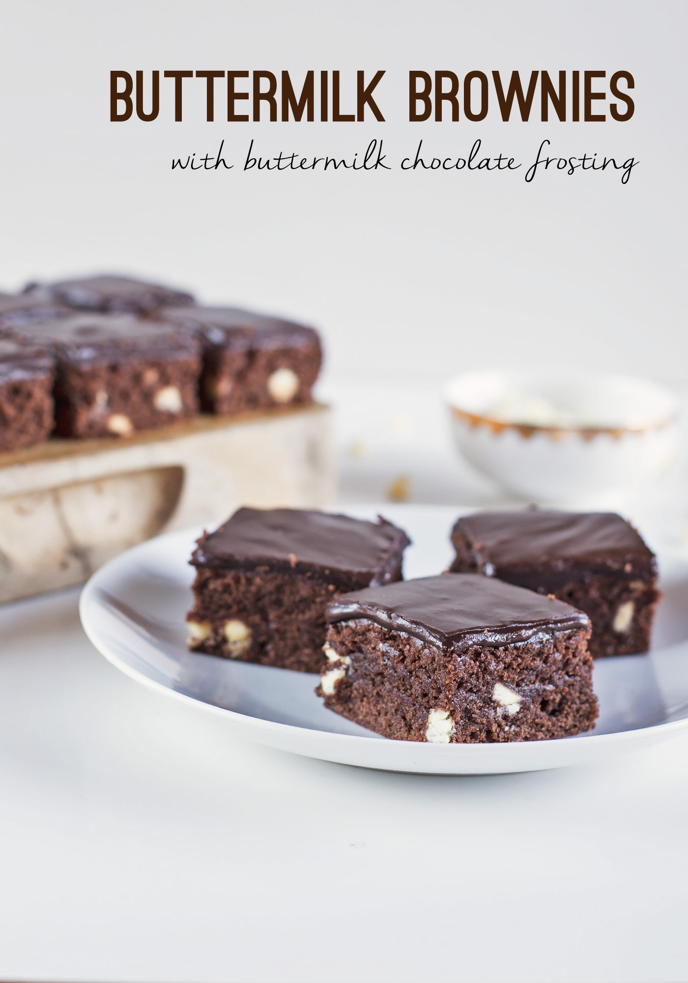 Buttermilk Brownies with Buttermilk Chocolate Frosting