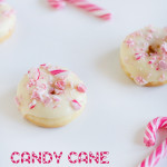 Candy Cane Donuts with White Chocolate
