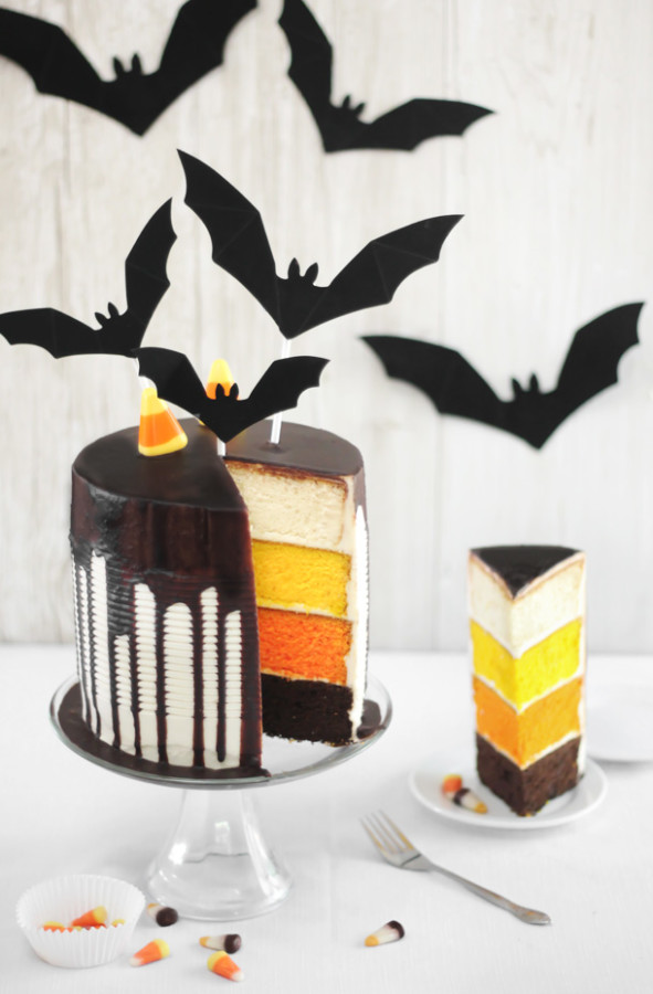 candy corn tuxedo cake 4