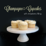Champagne Cupcakes with Strawberry Filling