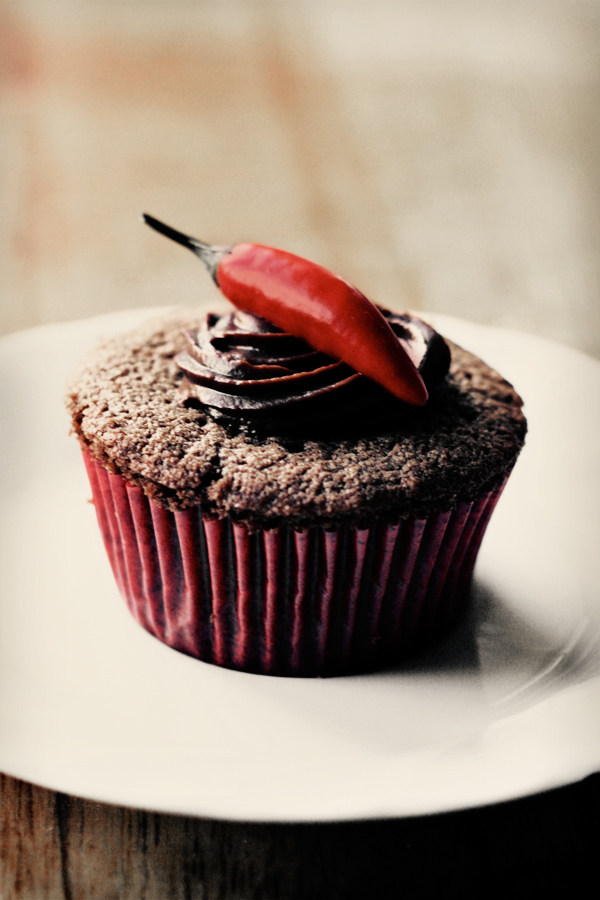 Chili-Chocolate Spider Cupcakes Recipes — Dishmaps