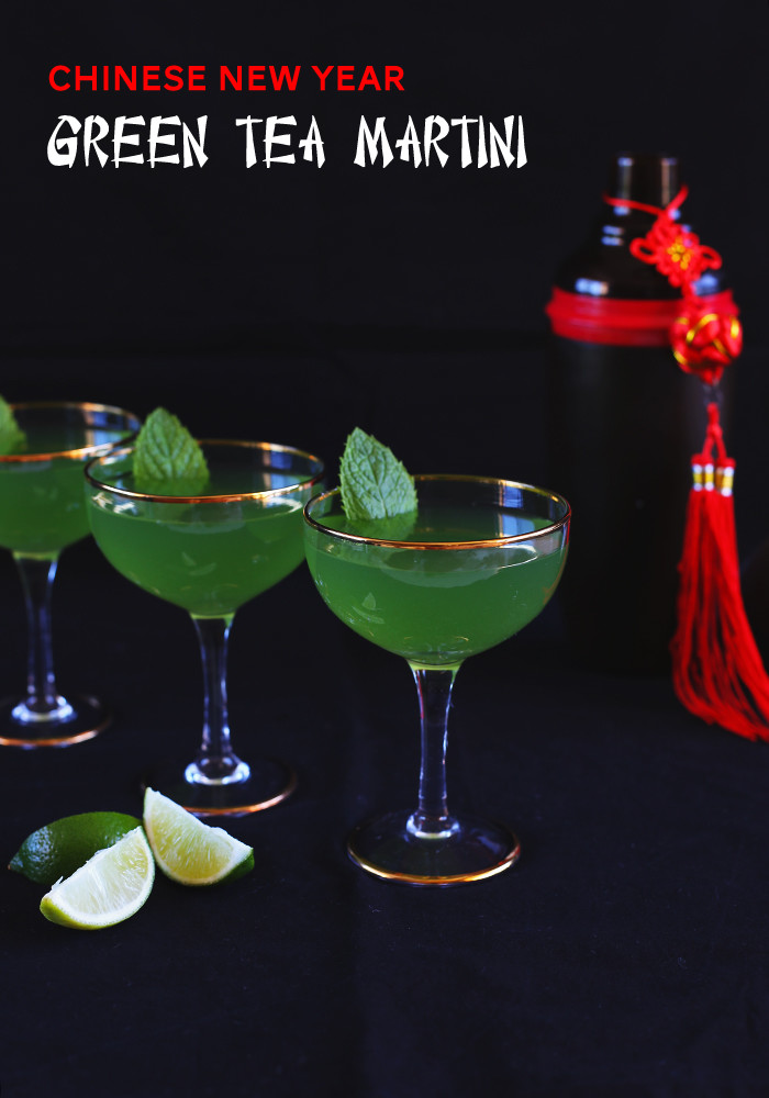 Chinese New Year Green Tea and Mint Martini