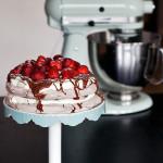 Chocolate Pavlova with Nutella and Strawberries