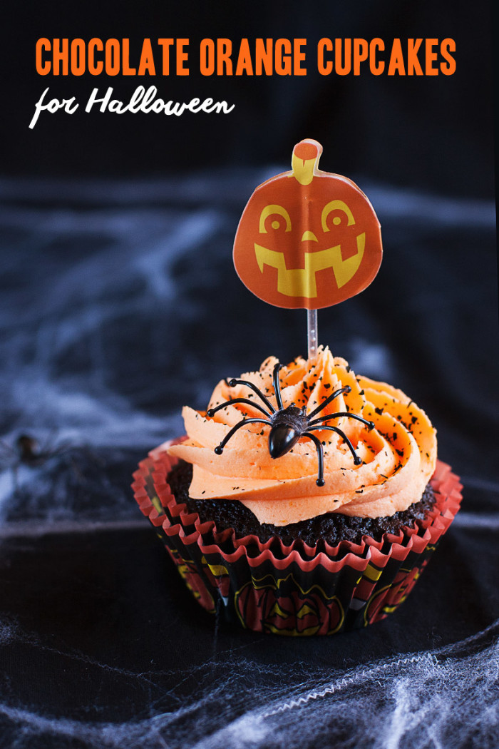 Chocolate Orange Cupcakes for Halloween - Love Swah