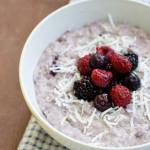 Coconut, Berry and Chia Porridge