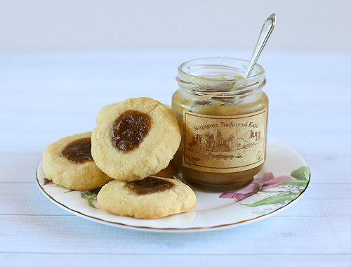 Coconut Shortbread Cookies with Kaya Jam