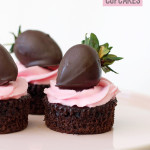 Dark Chocolate and Strawberry Cupcakes