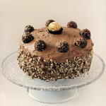 Triple Decker Ferrero Rocher Cake with Nutella Buttercream