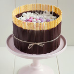 Pocky Easter Egg Nest Cake