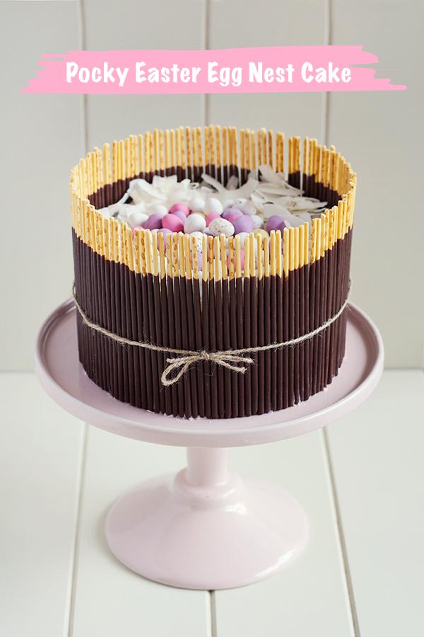 fresh-strawberry-easter-egg-basket-cake