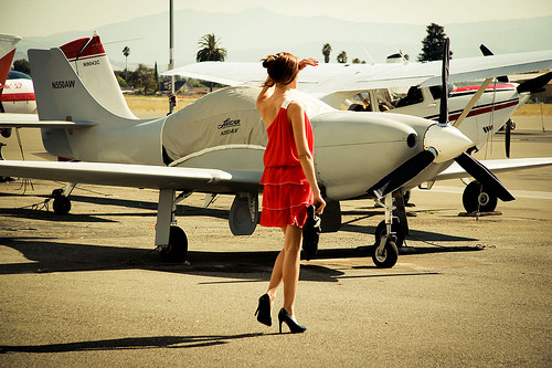 girl plane