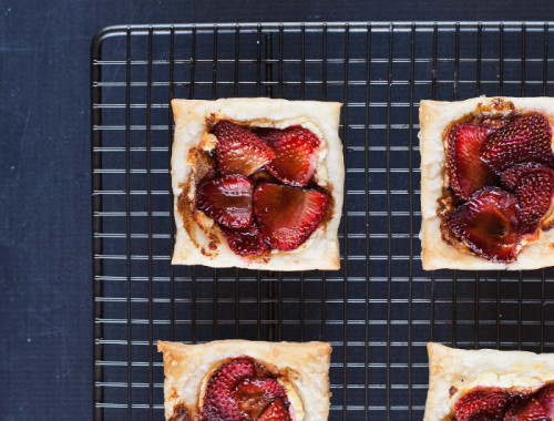 Goats Cheese and Strawberry Tarts