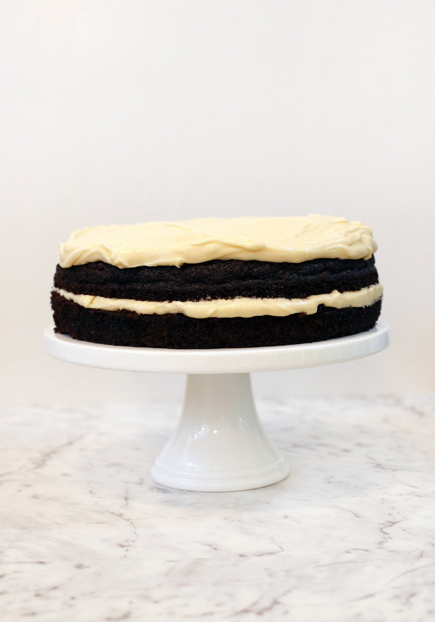 Guiness Layer Cake With Baileys Frosting
