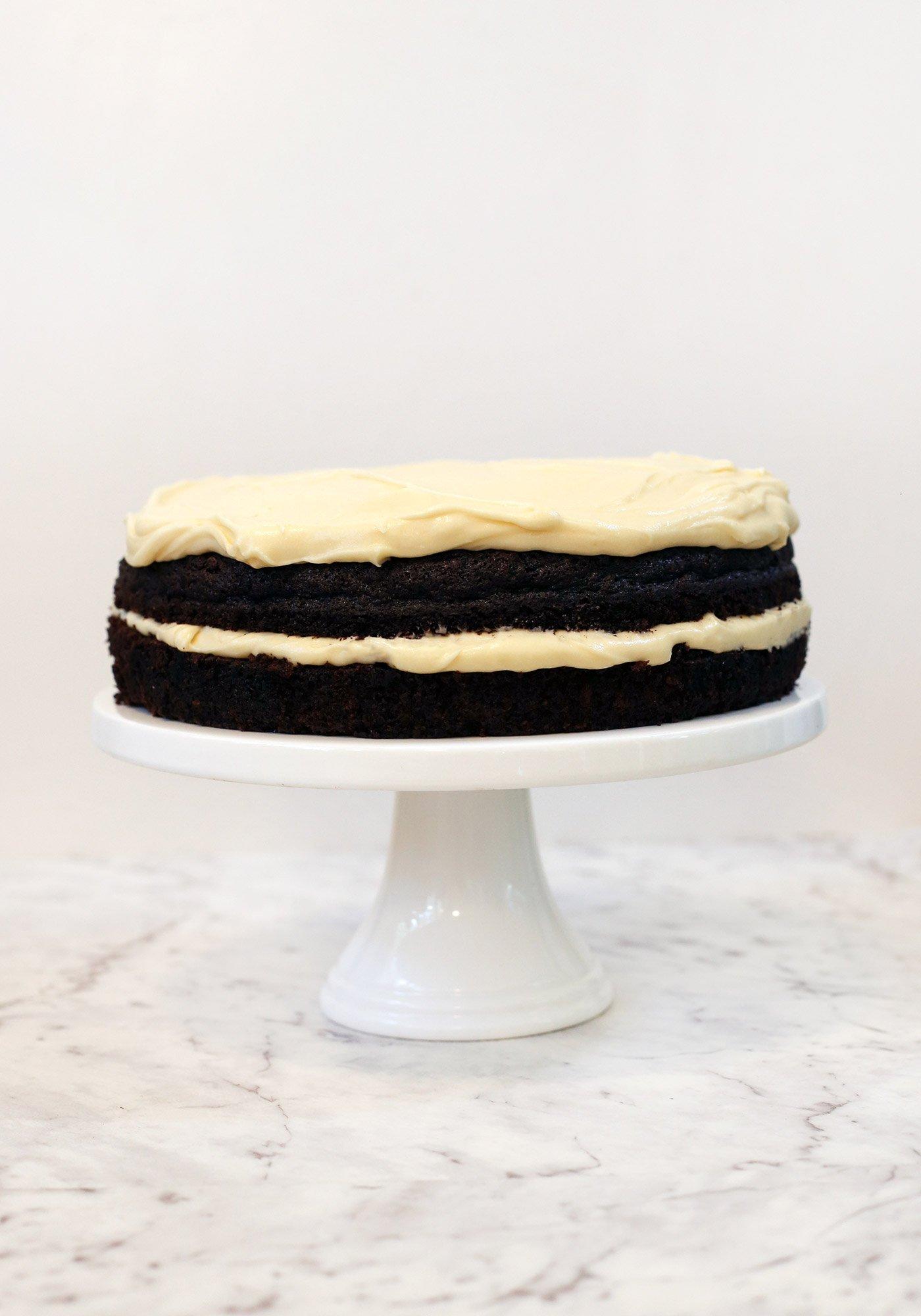 Dark Chocolate Guinness Cake with Baileys Cream Cheese Icing - Love ...