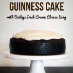 Dark Chocolate Guinness Cake with Baileys Cream Cheese Icing