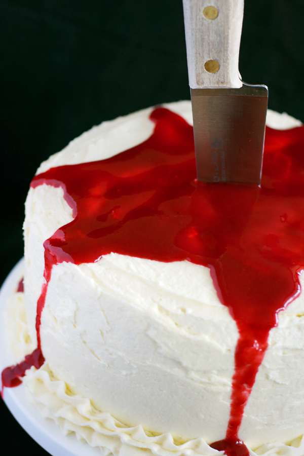 Cake With A Bloody Knife In It
