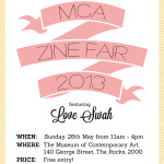 Love Swah exhibiting at the MCA Zine Fair 2013!