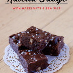 Nutella Fudge with Hazelnuts and Sea Salt