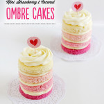 Strawberry and Coconut Ombré Cakes