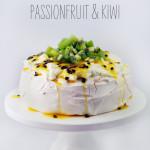 Pavlova with Cream, Passionfruit and Kiwi