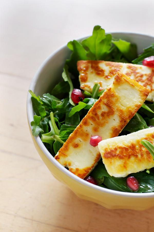 pomegranate-mint-haloumi-salad