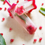 Pomegranate, White Tea and Mint Popsicles