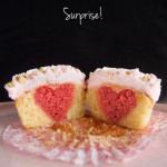Rosewater and Pistachio Cupcakes… with a surprise inside!