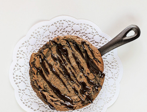 single-serve-peanut-butter-nutella-skillet-cookie