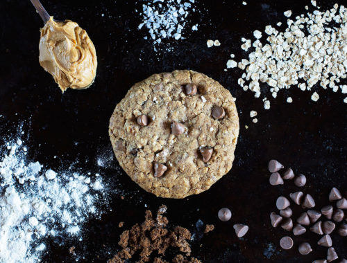 Single-serve Peanut Butter Oat Chop Chip Cookie