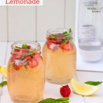 Strawberry and Mint Lemonade using SodaStream
