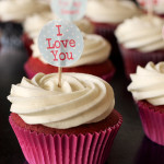 Happy Valentine's Day! Red Velvet Surprise Cupcakes with White Chocolate Icing
