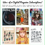 Giveaway: Win 1 of 10 digital magazine subscriptions!