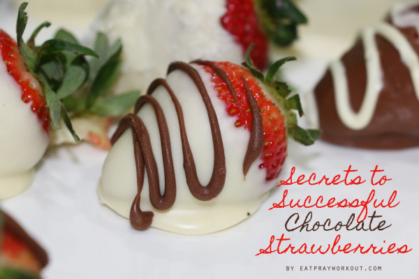 1. secrets to chocolate strawberries