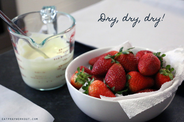 2. secrets to chocolate strawberries dry