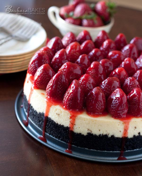 Strawberry Cheesecake with an Oreo Crumb Crust
